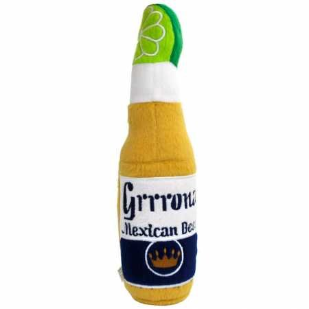 Grrrona Mexican Beer Plush Dog Toy w/ Squeaker -