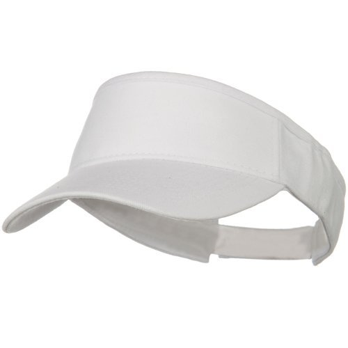 Brushed Bull Denim Sun Visor - White OSFM