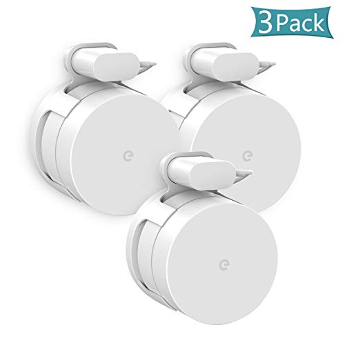 Google WiFi Wall Mount Bracket, Caremoo Bracket Holder for Google WiFi Router and Google Mesh, Without Messy Wires or Screws (White, 3 Pack)