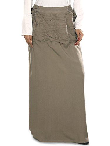 MyBatua Frauen islamische Kleidung Lässige & Party Wear Rayon Rock in Khaki
