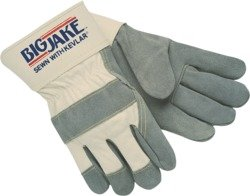 Memphis - Big Jake Premium Leather Palm Gloves, Split Cow...
