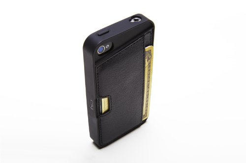 Silk iPhone 4/4S Wallet Case - Q CARD CASE [Slim Protective CM4 Cover] - Black Onyx by Silk (Image #3)