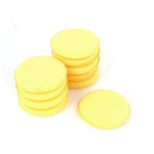 sourcingmap® Auto 10 Stück Wachsen Polierschwamm Polster Gelb