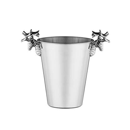 Cubo de hielo de estilo europeo con cuerno retro de acero ...