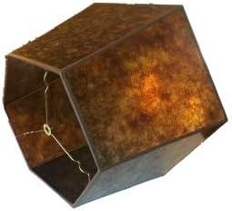 Upgradelights Amber Mica 18 Inch Hex Floor Lampshade 12x18x11
