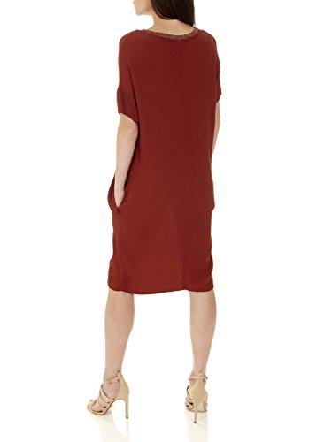 Vestido con bolsillos Enrica - Large - Terracota