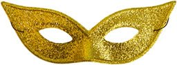 Lame Harlequin Mask - Harlequin Mask Lame Gold