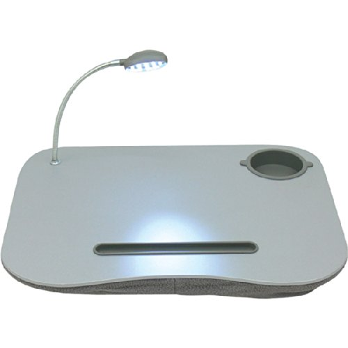 QVS LD-LED Notebook Stand with LED Light, Gray ()