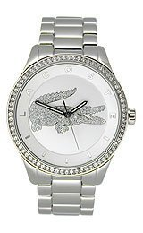 Lacoste Women's 2000826  Quartz Movement Victoria Watch, Silver - One Size by Lacoste