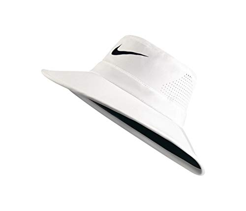 NIKE Golf UV Sun Bucket Golf Hat 832687 (White) S/M