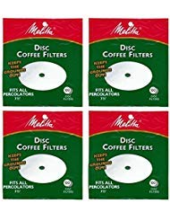 - Melitta 3.5 Inch White Disc Coffee Filters (Pack of 4)