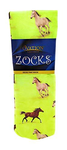 Ovation Zocks Ladies Boot Socks- Lime