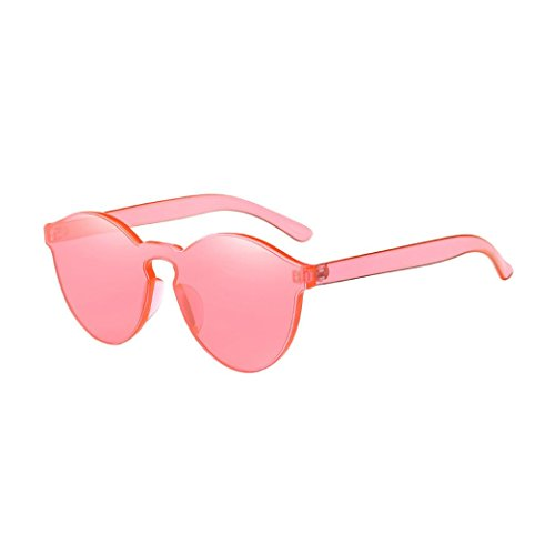 UV Candy Colored Glasses,Prettymenny Women Fashion Sunglasses (Watermelon - Watermelon Sunglasses