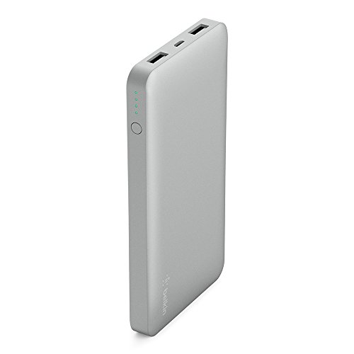 Belkin 10,000mAh Power Bank Battery Pack (Silver)