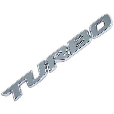 4agegarage Chrome Metal Turbo Engine Race Motor Emblem Badge For Universal Car Trunk Hood Door