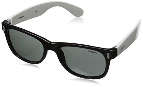 Polaroid Sunglasses P0115S Polarized Wayfarer Sunglasses, Black White, 46 - Kids Polaroid Sunglasses