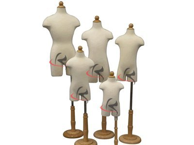 (JF-11C Group) ROXY DISPLAY 4 Units Children/Child/Kids Dress Form Mannequin Body Form with base (JF-11C6M JF-11C2T JF-11C4T JF-11C7T)