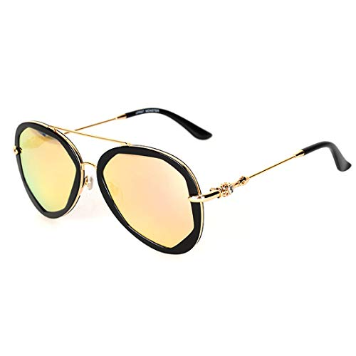 Sol Lens Color Sol Frame de Lens Gafas claras Pink Black Gafas 100 Pink de Sakuldes de de UV400 Lentes de señoras Las Las Black Frame polarizadas Lentes señoras OwgEnH
