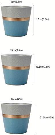 Hong Yi Fei-shop Soucoupe Balcon Tiger Piran Succulent Plantation Pot en céramique Ménage Respirant Pot de Fleurs Récipient pour Plantes de Jardin (Taille : M)