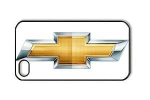 Camaro Car Logo on White Iphone 4/4S Black Sides PC Hard Shell Case by eeMuse