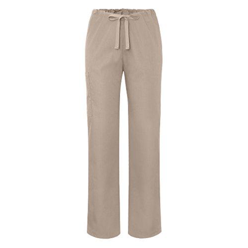 Sivvan Unisex Tapered Leg Drawstring Scrub Pants - S8202 - Khaki - XL