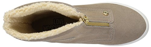 Suede Sneaker Women's Moschino Fashion Love Beige Boot E1wfUnnqWx