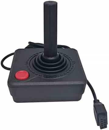 Childhood Black Retro Classic Controller Gamepad Joysticks for Atari 2600 System Console