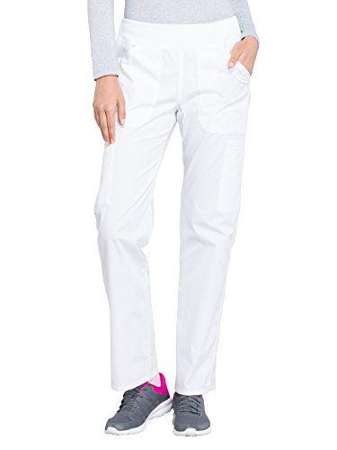- Cherokee WW Professionals WW170 Mid Rise Straight Leg Pull-On Pant White XL Petite