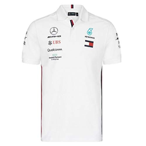 Mercedes AMG Petronas Motorsport 2019 F1 Mens Polo Shirt White M White