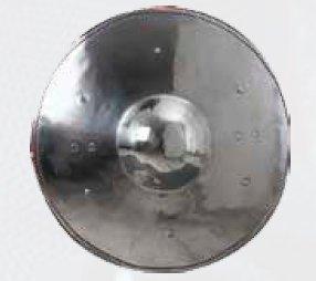 "Dished Buckler Shield - 18 Gauge Steel - 13"" Across"