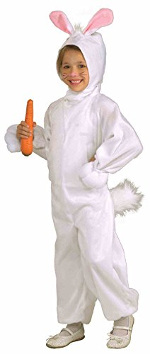 Forum Novelties Kids Fleece Bunny Rabbit Costume, Small, One Color -
