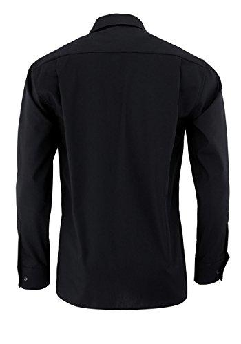 ETERNA hommes Comfort Fit Uni Popeline Chemise de manches longues noir