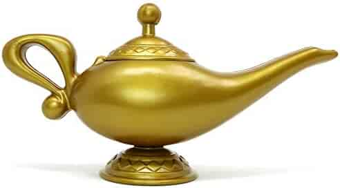 Skeleteen Arabian Genie Oil Lamp - Aladdin's Gold Magic Genie Lamp Costume Accessory - 1 Piece