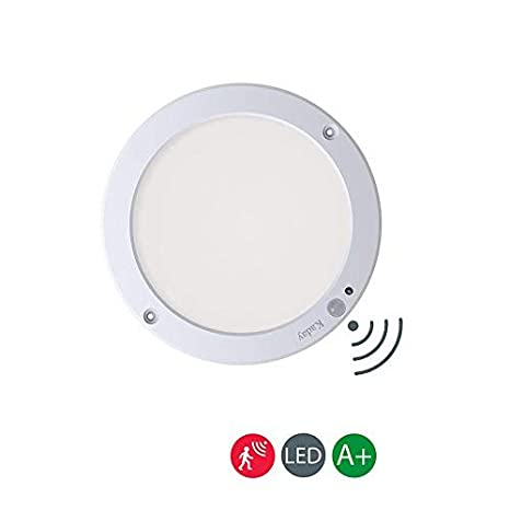 Kaday 18W Downlight LED Plafón con sensor de movimiento Lámpara de pared Techo Foco Empotrable,1300 LM,6000K Blanco frío