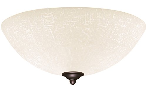 (Emerson Ceiling Fans LK83WW White Linen Light Fixture for Ceiling Fans, Medium Base CFL)