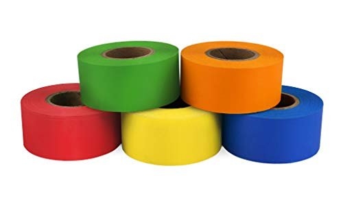 ChromaLabel Color-Code Labeling Tape Variety Pack | 5 Assorted Colors | 500 inch Rolls (1 inch)