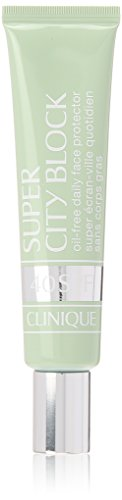 Clinique Super City Block, Oil-Free Daily Face and Skin Protector and Moisturizer, Broad Spectrum SPF 40 UVA/UVB Sun-Blocking Ingredients, Free of Parabens, Phthalates, and Sulfates, 1.4 Fl Oz ()