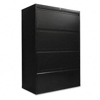 Alera 5000 Series - Alera® 5000 Series Four-Drawer Lateral File FILE,LAT 4DRW 36IN WDE,BK (Pack of2)