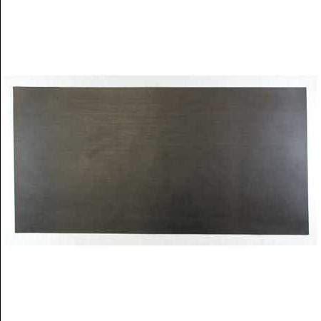3/16'' Comm. Grade Neoprene Rubber Sheet, 12''x24'', Black, 60A, 6060-3/16B