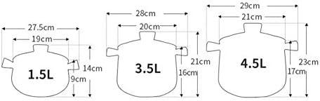 Casserole haute température Casserole en céramique Multifonctionnel,Casserole Céramique Ragoût Résistance Haute Température Gaz Universel/Flamme Ouverte-8.0L