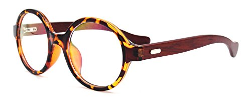 Amillet Unisex Wooden Vintage Round Oval Eyeglass - Wooden Spectacle Frames
