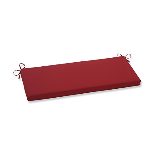 Pillow Perfect Pompeii Bench Cushion, Red (16 X Outdoor 45 Cushion Bench)