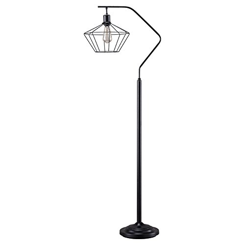 Ashley Furniture Signature Design - Makeika Floor Lamp with Metal Shade - Contemporary Style - Black Finish