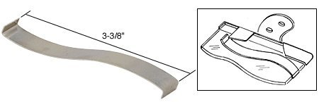 """C.R. LAURENCE S4072 CRL 3-3/8"""" Louver Window Security Clip for 4-1/2"""" Glass Slat"""