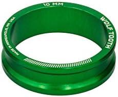 Wolf Tooth Componentsヘッドセットスペーサー5パック、10mm、グリーン