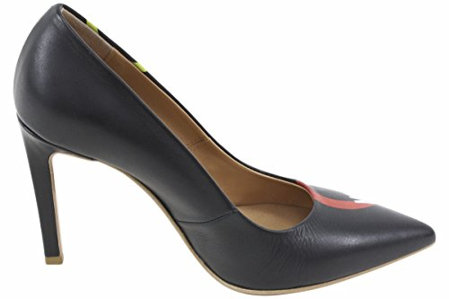 Love Moschino Women's Black Leather Stiletto Heels Shoes Sz: 6 by Love Moschino (Image #3)'
