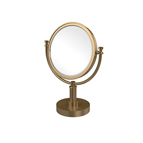 Allied Brass DM-4/2X-BBR 8-Inch Table Mirror with 2x Magnification, 15-Inch, Brushed Bronze