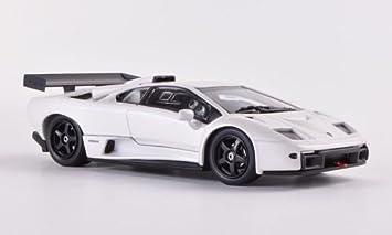 Lamborghini Diablo Gtr S Met White Model Car Ready Made Kyosho