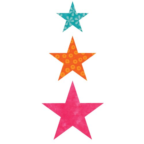 - AccuQuilt GO! Fabric Cutting Dies; Star 2-inch; 3-inch & 4-inch