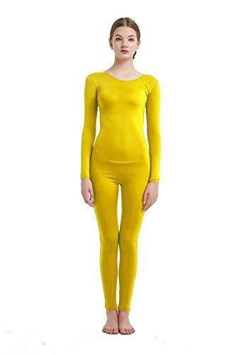Unisex Full Body Lycra Spandex Zentai Suit Black Silk Catsuit Dancerwear Costume